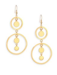 Jules Smith Designs Open Circle Disc Drop Earrings Gold
