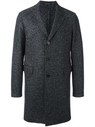 Emporio Armani Boucle Effect Coat Grey