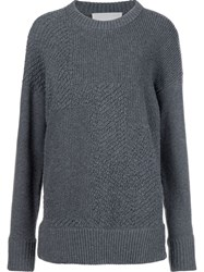 Jason Wu Ribbed Oversized Jumper Grey