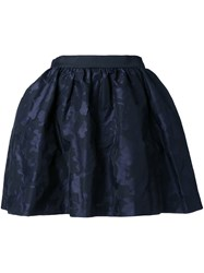 Guild Prime Draped Short Skirt Blue