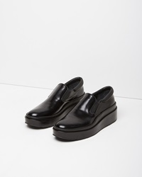 Jil Sander Slip On Platform Shoe Black