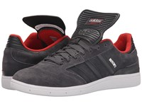 Adidas Skateboarding Busenitz Pro Solid Grey Carbon Red Men's Skate Shoes Gray