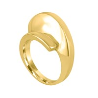 Marshelly's Jewelry Arc Ring18k Gold Plated High Polish 8.5
