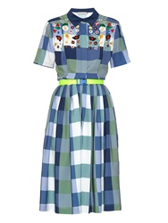 Preen Line Winton Embroidered Checked Dress