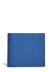 Thom Browne Billfold Pebbled Leather Wallet Blue