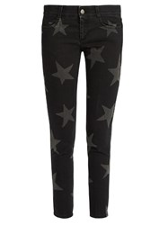 Stella Mccartney Star Print Low Rise Skinny Fit Jeans Black