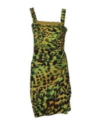 Ivan Montesi Knee Length Dresses Acid Green