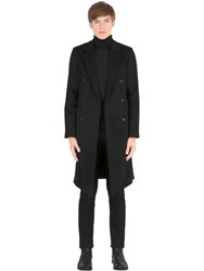 Ann Demeulemeester Double Breasted Wool Velour Coat