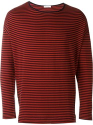 Societe Anonyme Striped Loose Pullover Blue