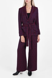 Rodebjer Printed Pyjama Trousers Purple