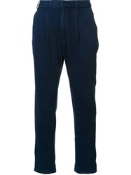 Ag Jeans Drawstring Tapered Trousers Blue
