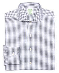 Brooks Brothers Check Non Iron Classic Fit Dress Shirt Blue