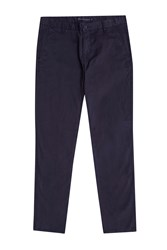 French Connection Sam Slim Cotton Trousers Marine