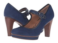 Sofft Monique Peacoat Navy King Suede High Heels Blue