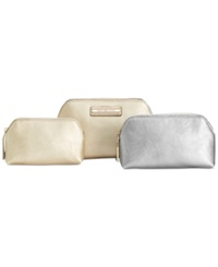 Tommy Hilfiger Th Signature Coin 3 In 1 Textured Leather Dome Cosmetics Case