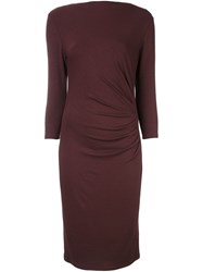 Max Mara Fine Knit Midi Dress Pink And Purple