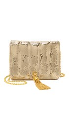 Whiting And Davis Quilted Tassel Bag Gold