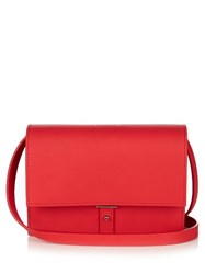 Pb Ab10 Leather Cross Body Bag Red