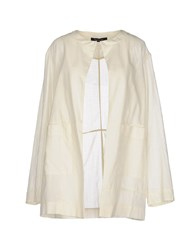 Manila Grace Coats And Jackets Full Length Jackets Women Ivory