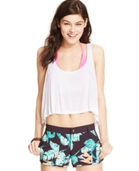 Roxy Juniors' Dolphin Hem Board Shorts Birds Of Paradise