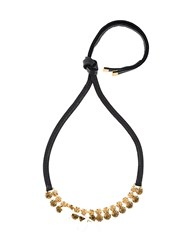 Marni Embellished Floral Necklace Black