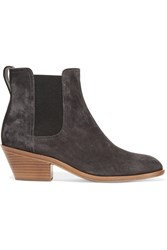 Rag And Bone Dixon Leather Trimmed Suede Boots Gray