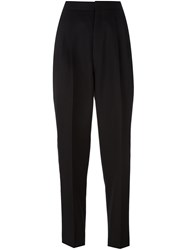 Saint Laurent High Rise Tailored Trousers Black