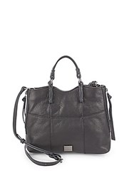 Kooba Everette Leather Crossbody Satchel Black