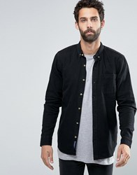 Pull And Bear Pullandbear Denim Shirt In Black In Regular Fit Black