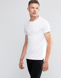 Jack And Jones Short Polo With Lightning Print White
