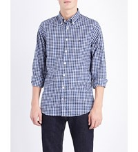 Tommy Hilfiger Slim Fit Gingham Print Cotton Shirt Dutch Navy