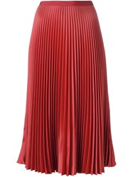 Vanessa Bruno Pleated Mid Skirt Red