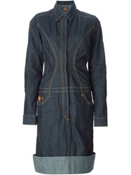 Walter Van Beirendonck Vintage Denim Shirt Dress Blue