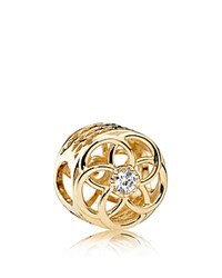 Pandora Design Charm 14K Gold And Cubic Zirconia Loving Bloom Moments Collection