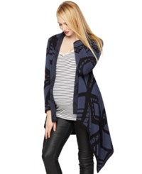 A Pea In The Pod Blank Maternity Printed Open Front Cardigan