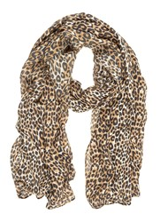 Mint Velvet Animal Print Scarf Multi Coloured