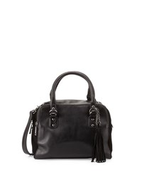 French Connection Jenny Faux Leather Satchel Bag Black