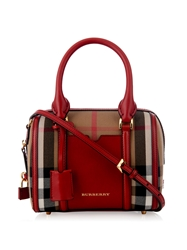 Burberry Alchester Mini Checked Bowling Bag