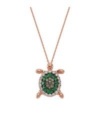 Bee Goddess Emerald Turtle Necklace Female