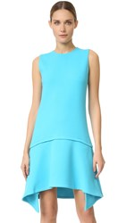 Victoria Beckham Draped Skirt Dress Ice Blue