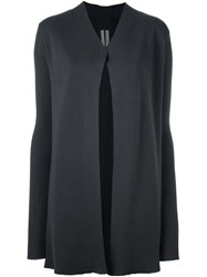 Rick Owens Open Front Cardigan Grey