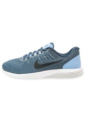 Nike Performance Lunarglide 8 Neutral Running Shoes Light Blue Black Squadron Blue Ghost Green Summit White