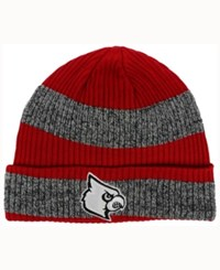 Adidas Louisville Cardinals Player Watch Knit Hat Red Heather Gray