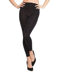 Spanx Banded Waist Textured Leggings Very Black