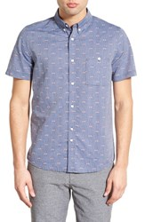 Men's Native Youth Trim Fit Short Sleeve Jacquard Woven Shirt