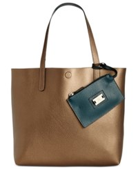 Styleandco. Style Co. Clean Cut Reversible Tote With Wristlet Only At Macy's Brass Storm
