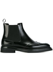 Church's Perforated Detailing Chelsea Boots Black