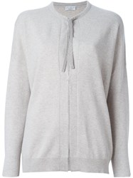 Brunello Cucinelli Crew Neck Cardigan Grey