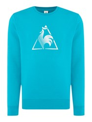 Le Coq Sportif Graphic Crew Neck Pull Over Jumpers Blue