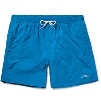 Saturdays Surf Nyc Timothy Checkerboard Mid Length Swim Shorts Blue